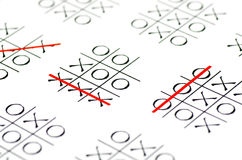 Tic tac toe game Stock Images