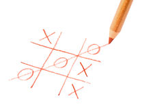 Tic tac toe game. Symbol luck Royalty Free Stock Photos