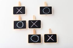 Tic tac toe game. On white background Royalty Free Stock Images