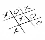 Tic Tac Toe Game Winner. Hand Drawn Tic Tac Toe Game Stock Images