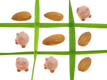 Tic-Tac-Toe Healty Diet Royalty Free Stock Images