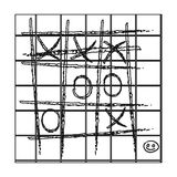 Tic-tac-toe icon in outline style isolated on white background. Board games symbol stock vector illustration. Stock Images