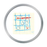 Tic-tac-toe icon in pattern Royalty Free Stock Photos