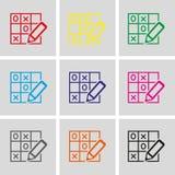 TIC TAC toe icon stock vector illustration flat design Stock Photos