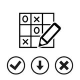 TIC TAC toe icon stock vector illustration flat design Royalty Free Stock Photography