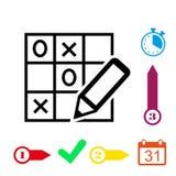 TIC TAC toe icon stock vector illustration flat design Royalty Free Stock Photos