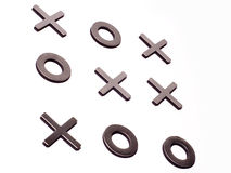 Tic-tac-toe isolated on white Royalty Free Stock Photo