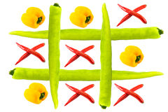 Tic tac toe isolated Royalty Free Stock Photo