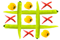 Tic tac toe isolated Royalty Free Stock Images