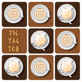 Tic-Tac-Toe of latte Stock Images