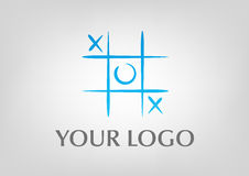 Tic tac toe logo. Blue creative logo , based on the tic tac toe game , suitable for modern companies Royalty Free Stock Photos
