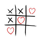 Tic Tac Toe - Love wins Stock Photo