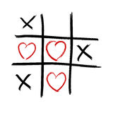 Tic Tac Toe - Love wins Royalty Free Stock Images