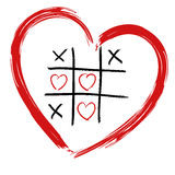 Tic Tac Toe - Love wins Royalty Free Stock Image