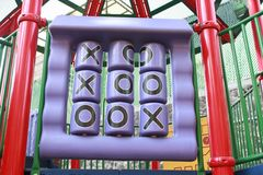 Tic tac toe playground. Tic tac toe on the playground Stock Photos