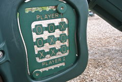 Tic tac toe. Playground tic tac toe green Royalty Free Stock Images
