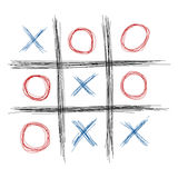 Tic Tac Toe. Scribble tic tac toe illustration Royalty Free Stock Photos