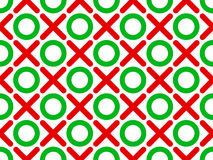 Tic tac toe seamless wallpaper Royalty Free Stock Photos