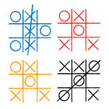 Tic tac toe set. Noughts and crosses board game icon isolated. Vector Stock Photography