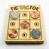 Tic-Tac-Toe - US Coins Stock Photos