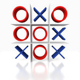 Tic Tac Toe on a white background. Stalemated Tic Tac Toe game on a white background Royalty Free Stock Photos