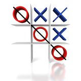 Tic Tac Toe on a white background Stock Photos