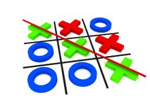 Tic-tac-toe, winning Stock Images