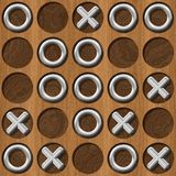Tic Tac Toe wooden board generated seamless texture Royalty Free Stock Photography