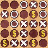 Tic Tac Toe wooden board generated seamless texture Royalty Free Stock Photo