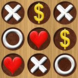 Tic Tac Toe wooden board generated seamless texture Stock Image