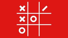 Tic-Tac-Toe. X-O game.Tic-Tac-Toe elements. stock video footage