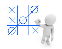 tic tac toe XO game Royalty Free Stock Images