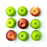 Tic tac-Zehenspiel mit Äpfeln Lizenzfreies Stockbild