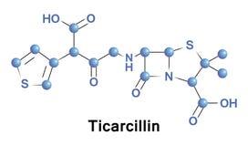 Ticarcillin是carboxypenicillin抗生素 库存例证