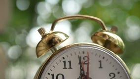 Ticchettii dell'orologio macro, fine su archivi video