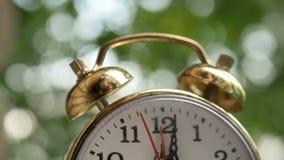 Ticchettii dell'orologio macro, fine su stock footage