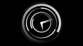 Ticchettio bianco dell'orologio illustrazione vettoriale