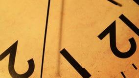 Ticchettio del fronte di orologio video d archivio