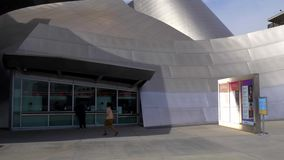 Ticekt office at Walt Disney Concert Hall in Los Angeles - CALIFORNIA, USA - MARCH 18, 2019. Ticekt office at Walt Disney Concert Hall in Los Angeles - LOS stock video footage