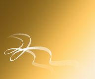 Tichet. With whit white ribbons on gold backgrounds royalty free illustration