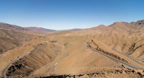 Tichka通行证在摩洛哥 免版税图库摄影