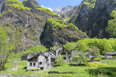 Ticino mountain village Royalty Free Stock Photos