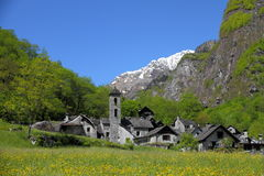 Ticino mountain village Stock Photo