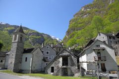 Ticino mountain village Stock Image