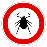 Tick animal sign isolated Royalty Free Stock Images