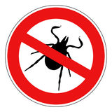 Tick animal sign isolated. On white background Royalty Free Stock Photos