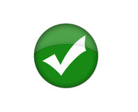 Tick button Stock Photography