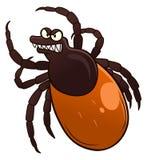 Tick. Cartoon angry tick. Cartoon vector pest series Stock Photos