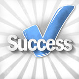 Tick. Creative Business Success Design Royalty Free Stock Photo