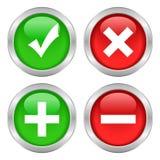 Tick cross button vector illustration